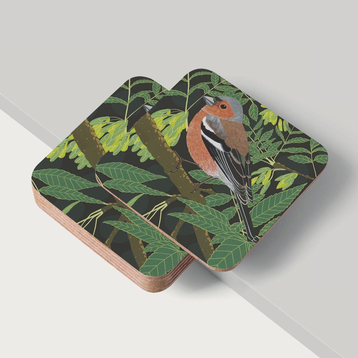 Chaffinch Placemat And Coaster Tableware