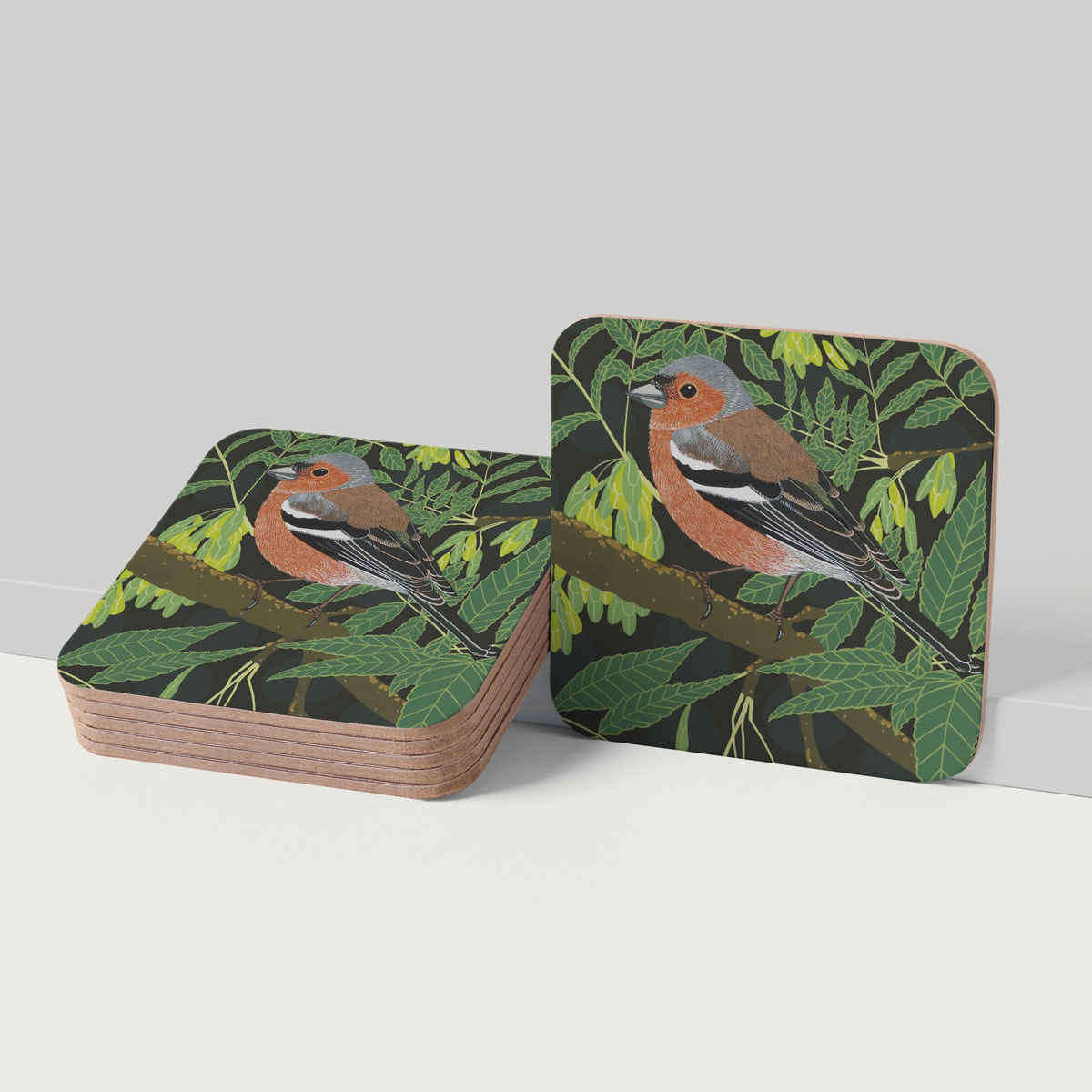 Chaffinch Bird Placemat And Coaster Tableware