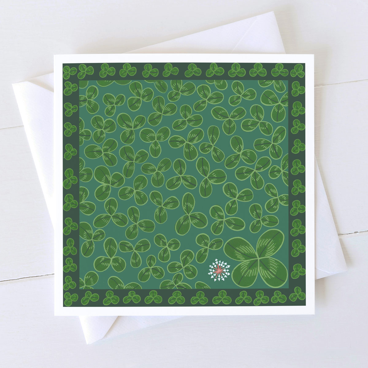 Clover Wild Flower Greeting Card