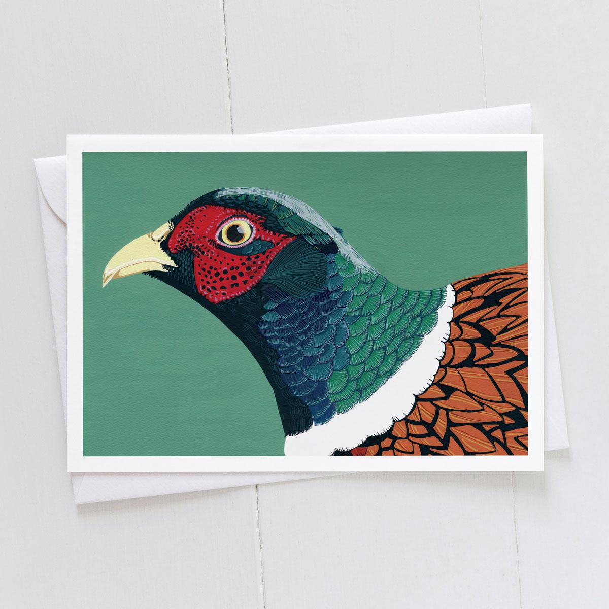 Cock Pheasant Greeting Card