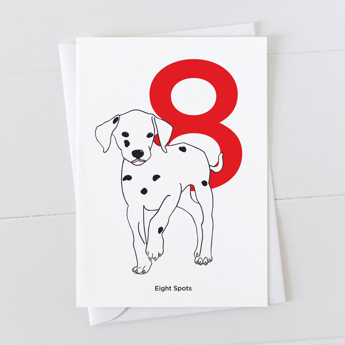 Age Eight Dalmatian Spot Greeting Card