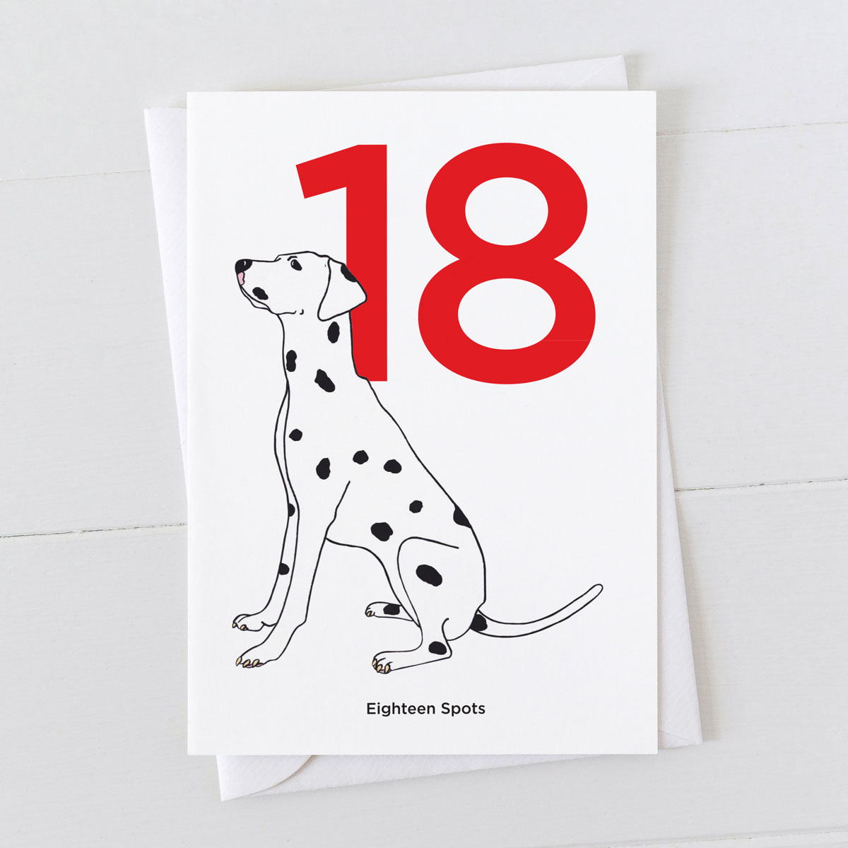 Age Eighteen Dalmatian Spot Greeting Card