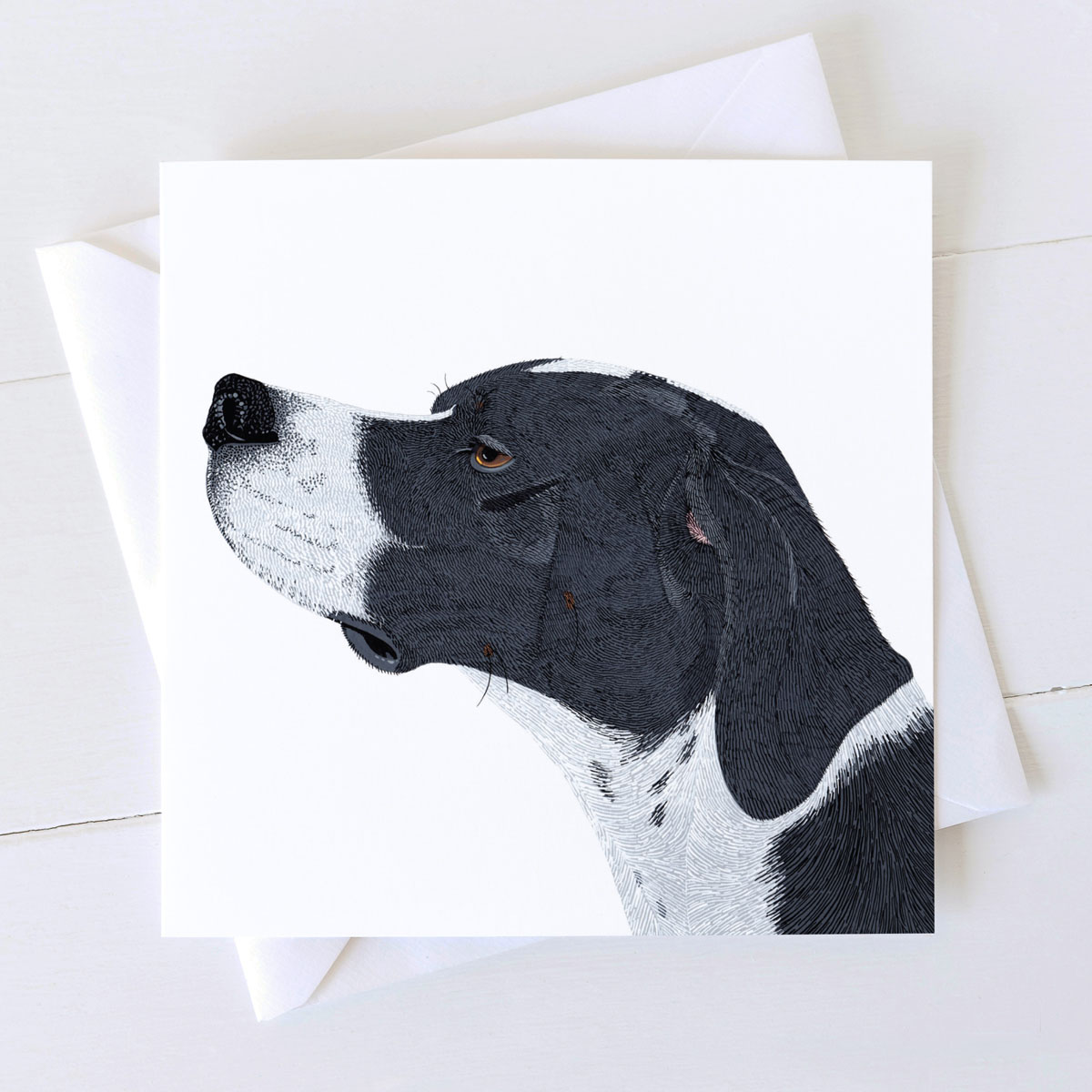 English Pointer Dog Square Greeting Card