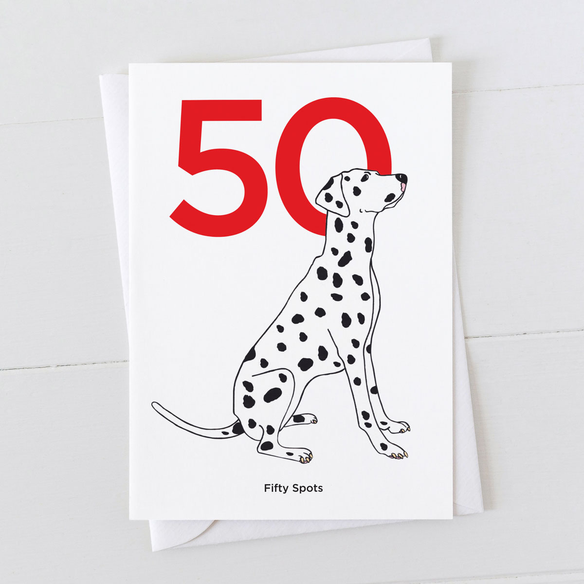 Age Fifty Dalmatian Spot Greeting Card