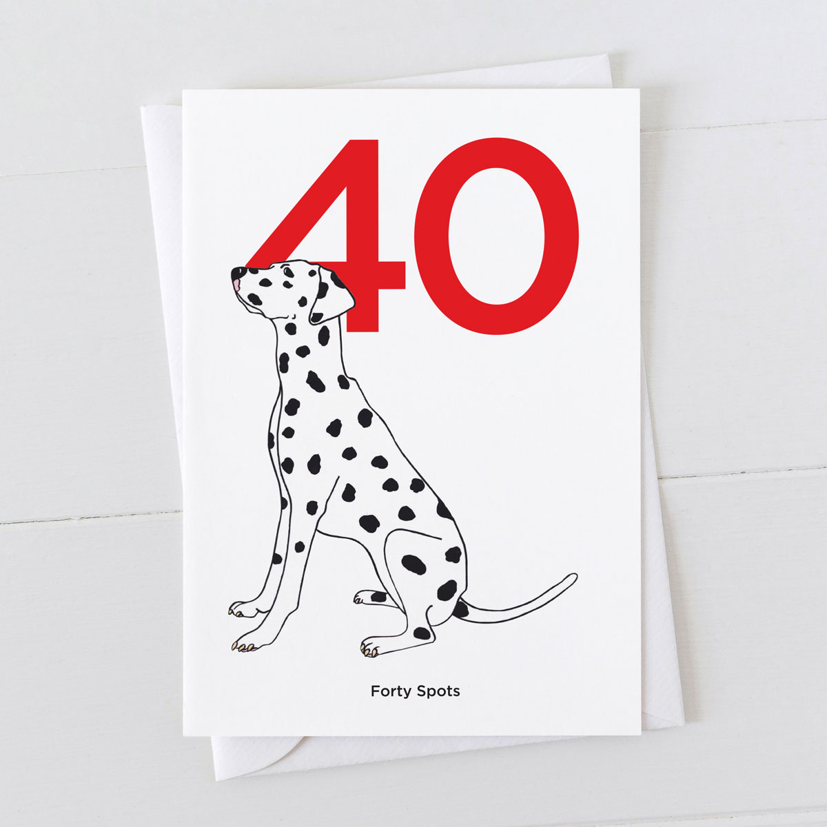 Age Forty Dalmatian Spot Greeting Card