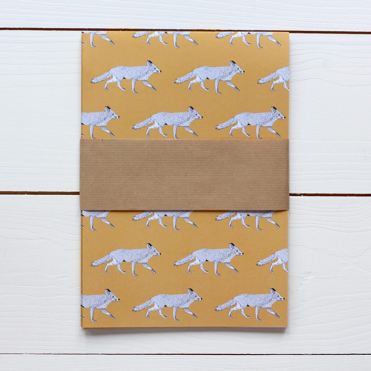 Fox Print Gift Wrap by Bird the Artist