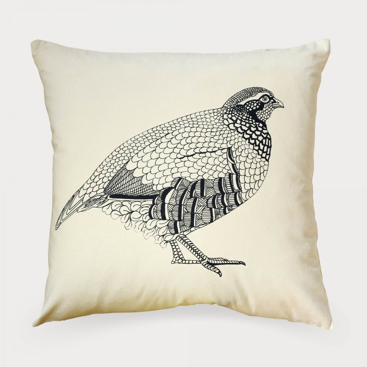 French Partridge Game Bird Cushion Cover
