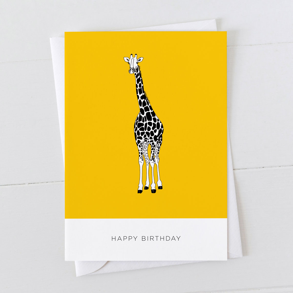 Giraffe Happy Birthday Card