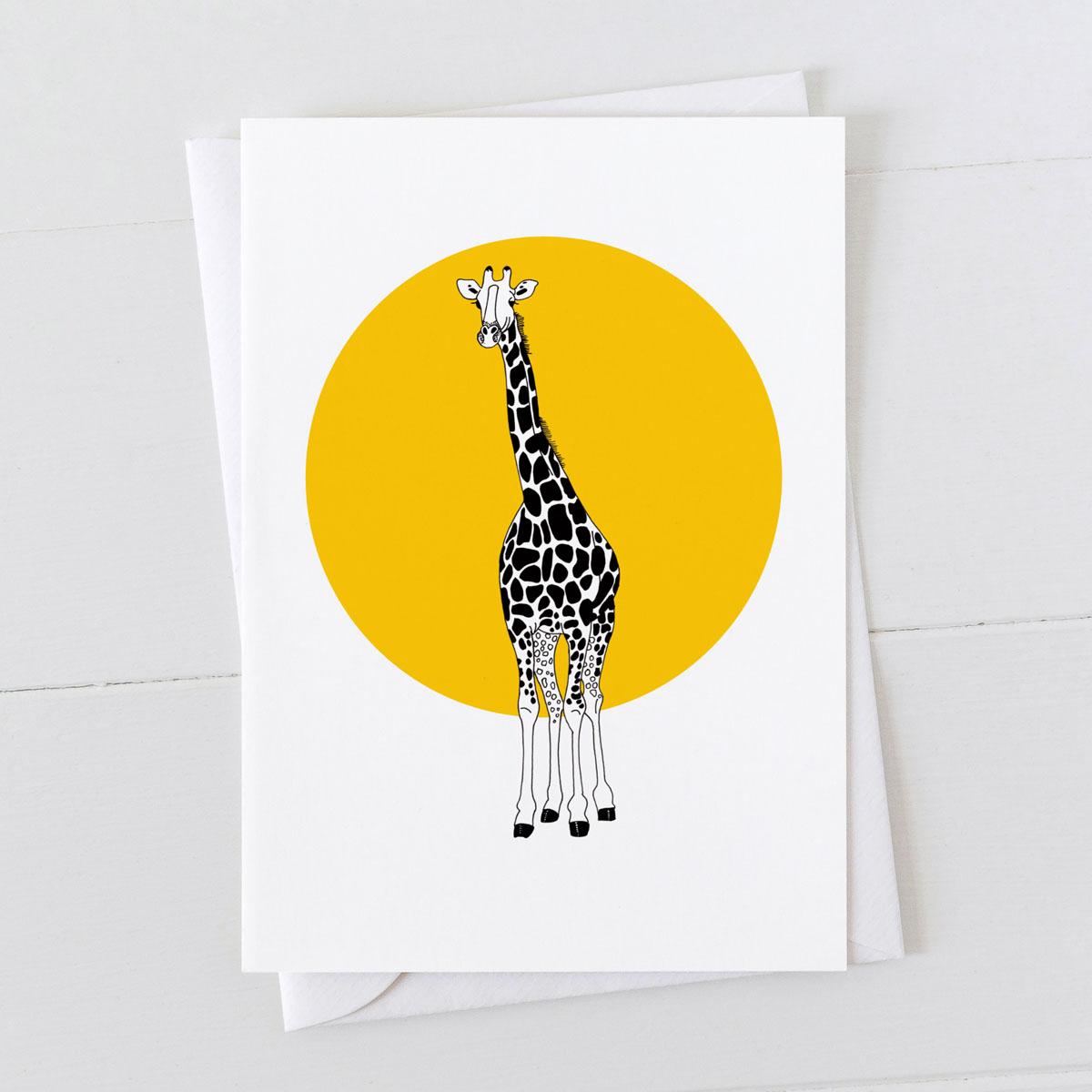 Giraffe Spot Greeting Card
