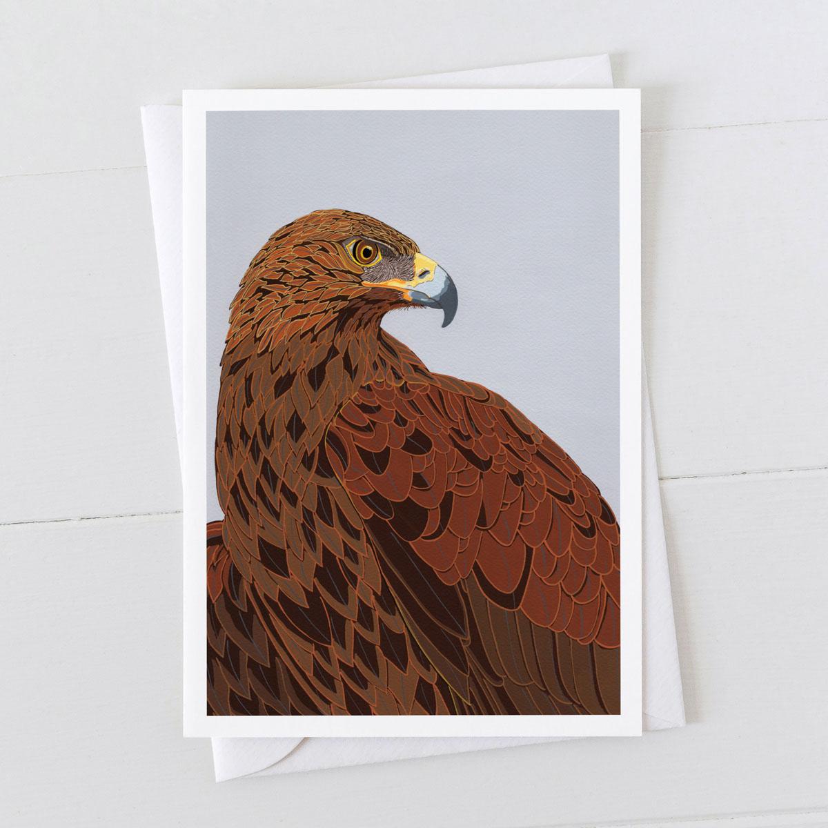Golden Eagle Bird Greeting Card