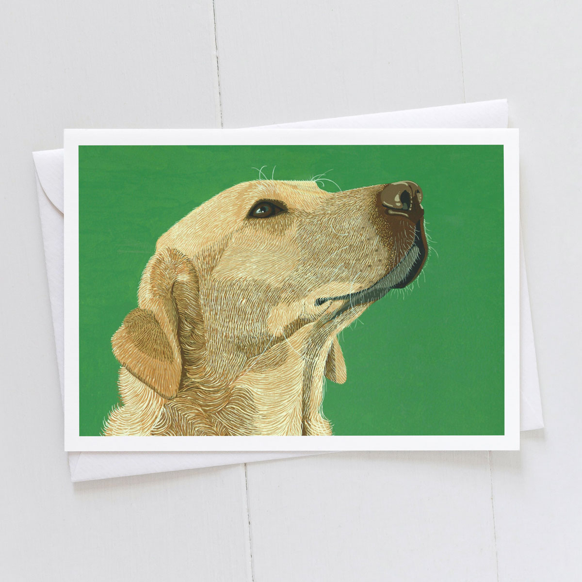 Golden Labrador Dog Greeting Card