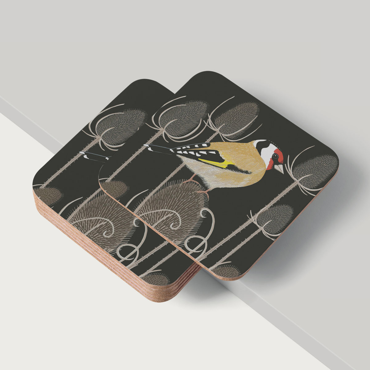 Goldfinch Bird Placemat And Coaster Tableware