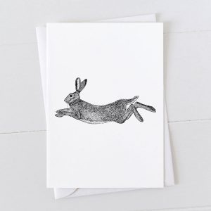 Hare Pen And Ink Drawing Greeting Card