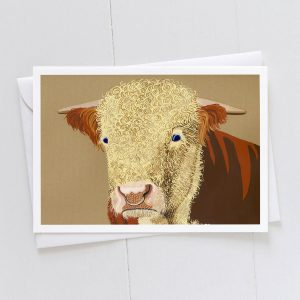 Hereford Bull Greeting Card