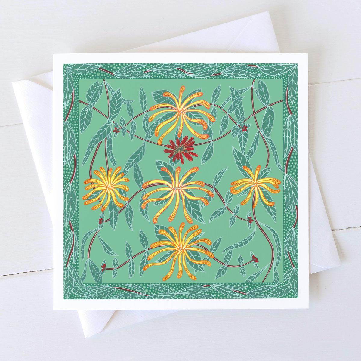 Honeysuckle Wild Flower Greeting Card