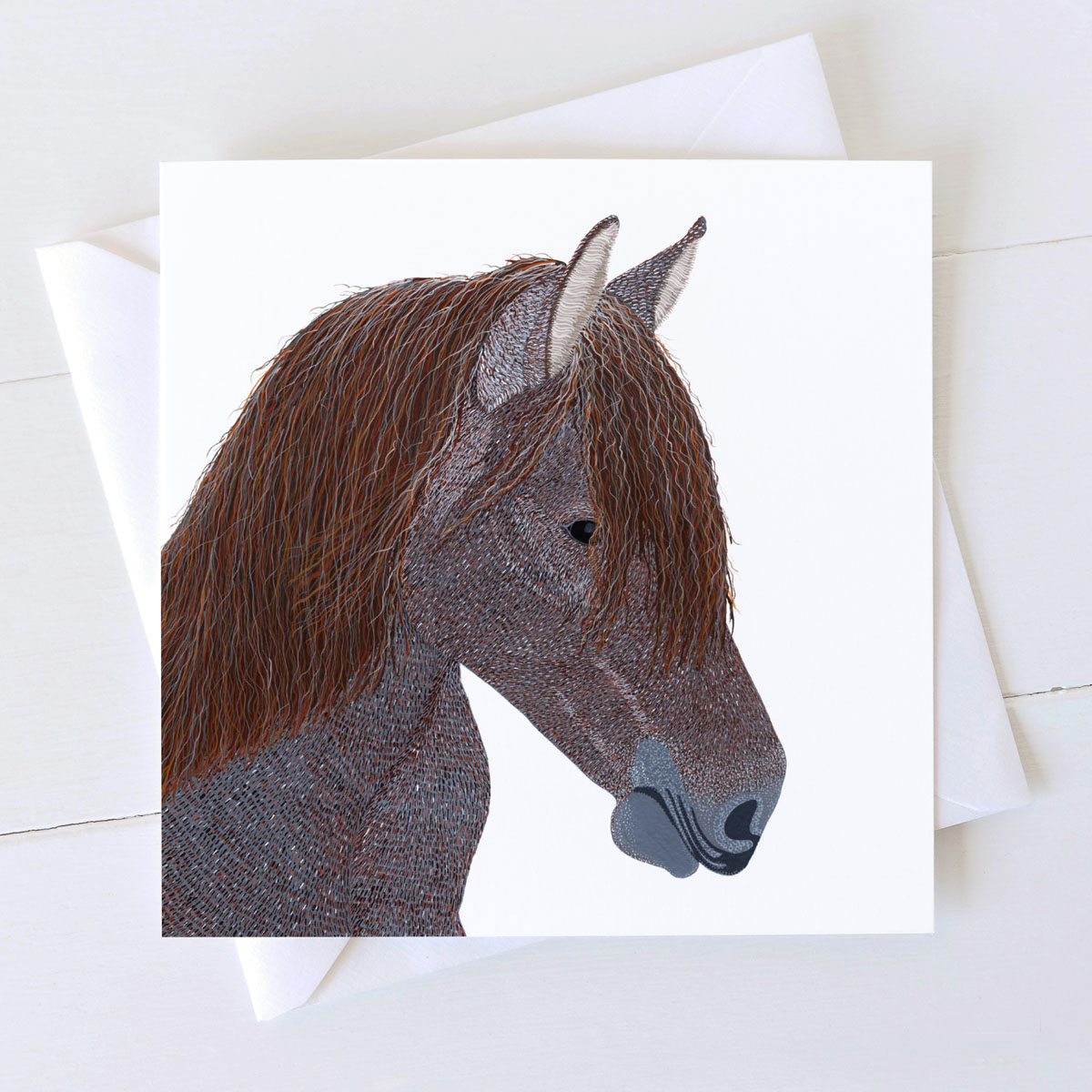 Horse Pong Greeting Card