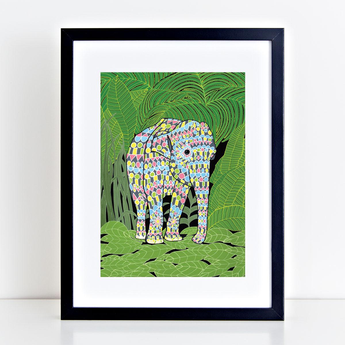 Indain Elephant Art Print By Bird The Artist