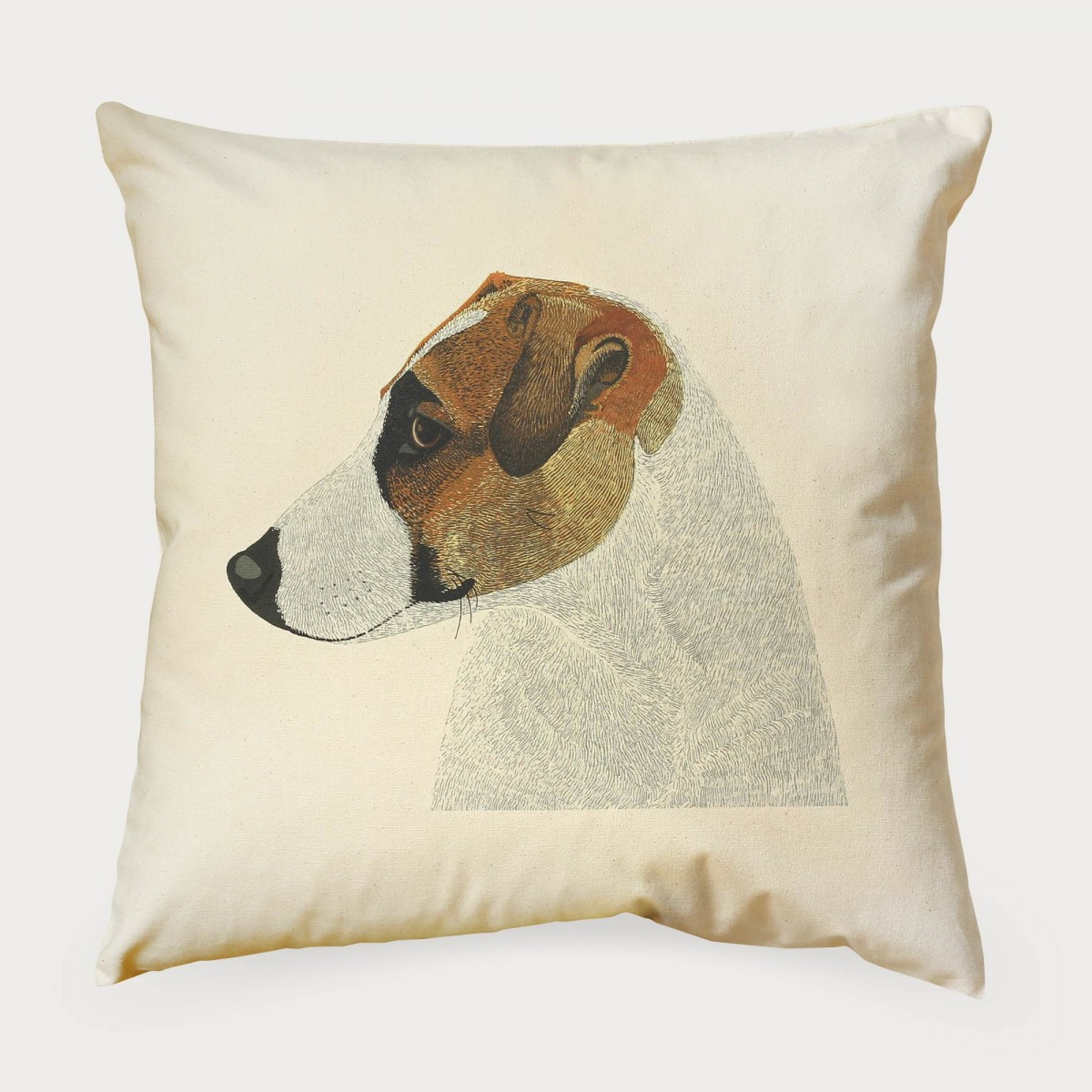 Jack Russell Dog Print Cushion Cover