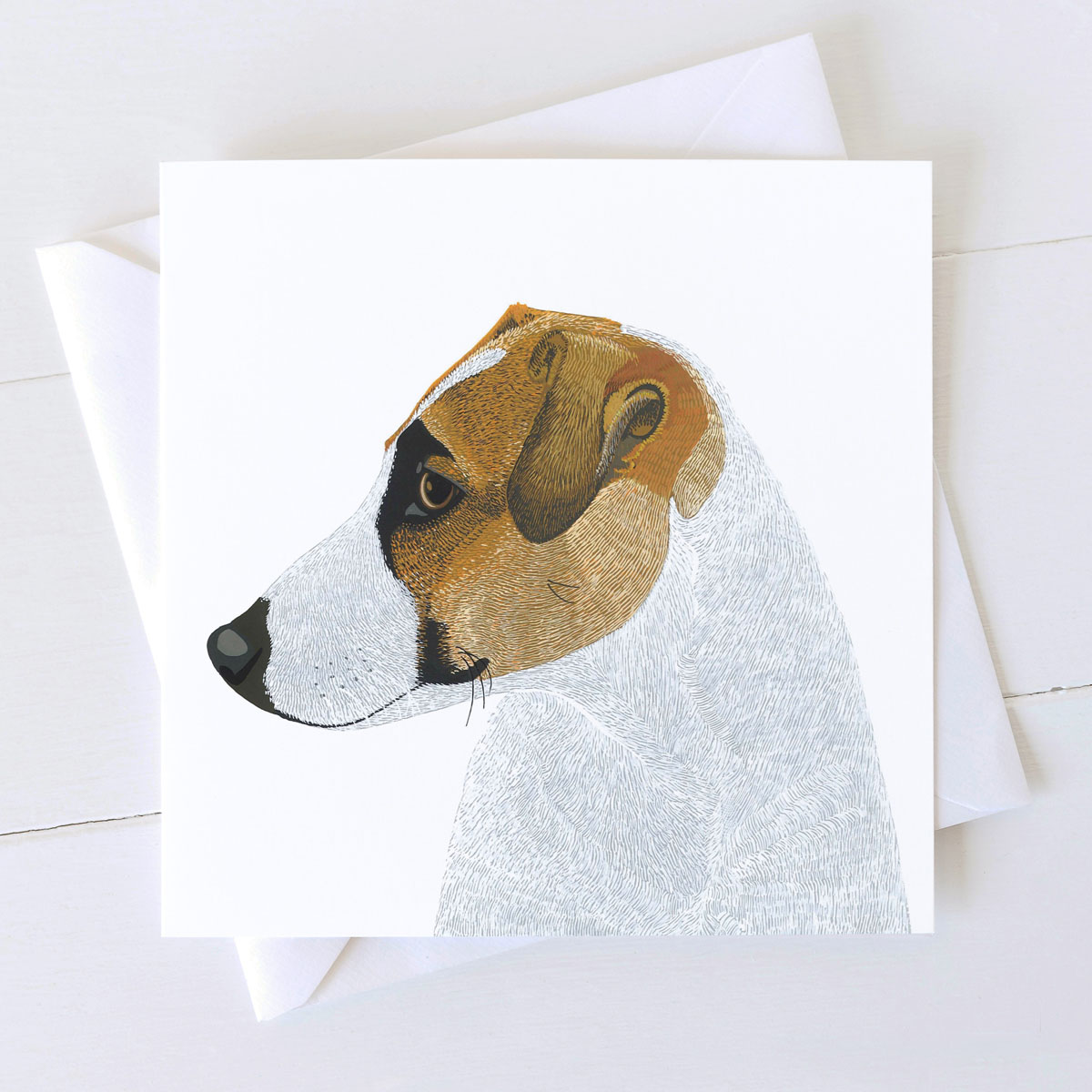 Jack Russell Terrier Dog Square Greeting Card