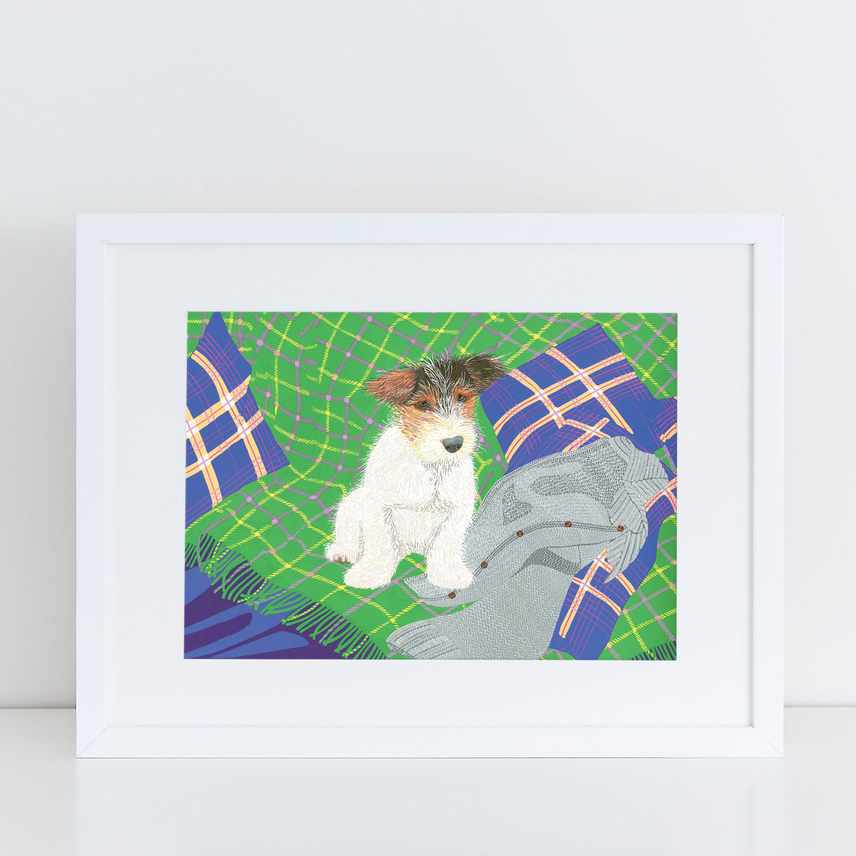 Jack Russell Dog Art Print By Bird The Artist