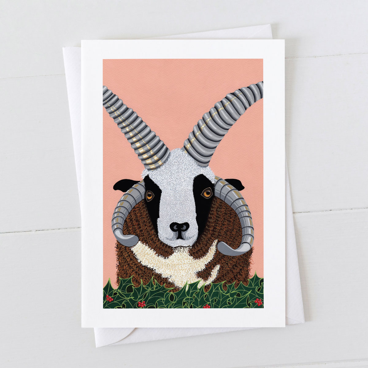 Jacob Ram Sheep Greeting Card