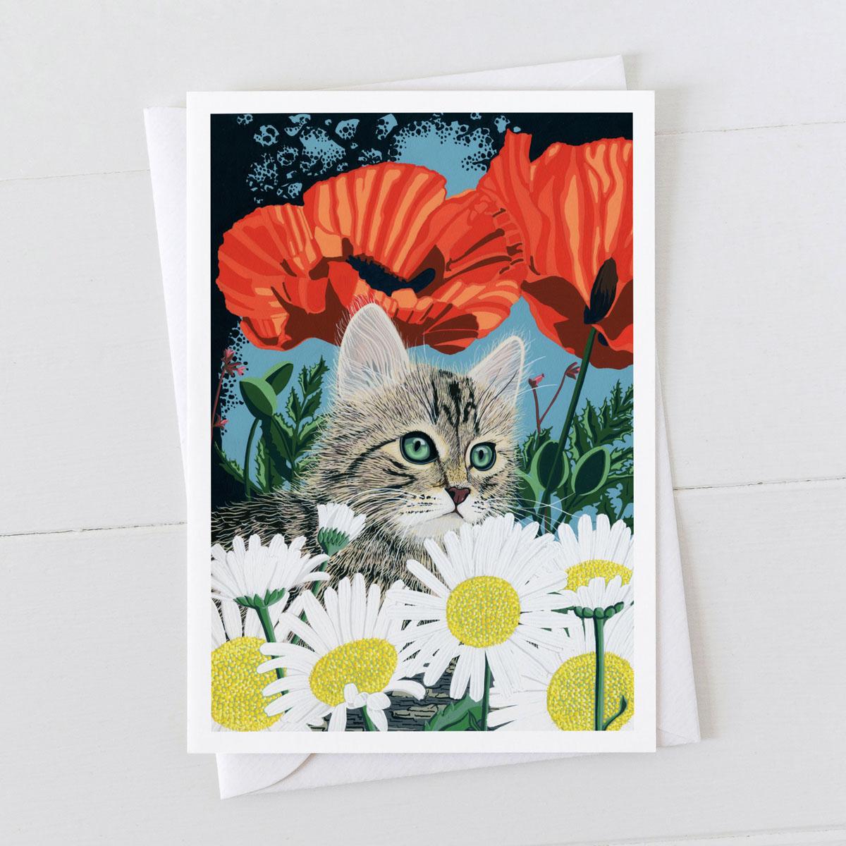Kitten Cat Greeting Card