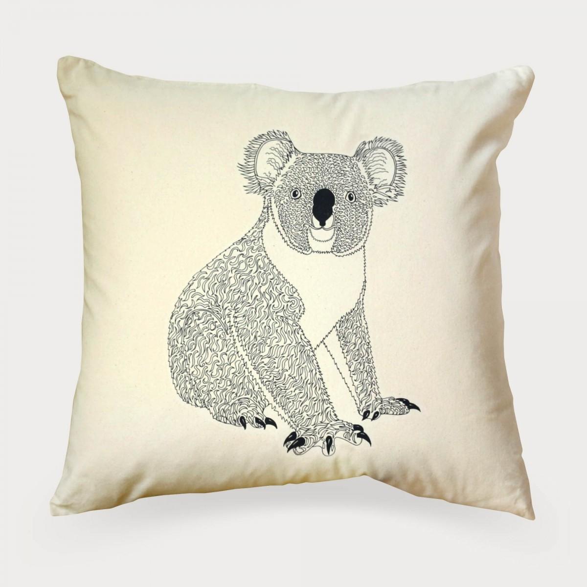 Koala Bear Print Cushion Cover