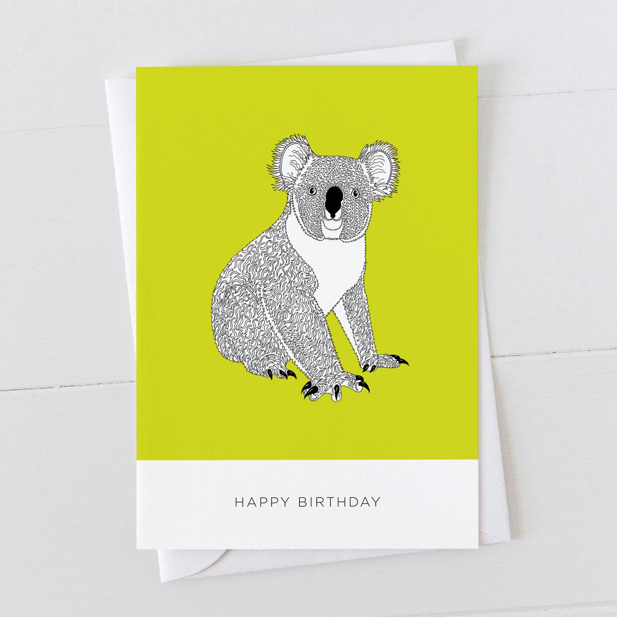 Koala Happy Birthday Card