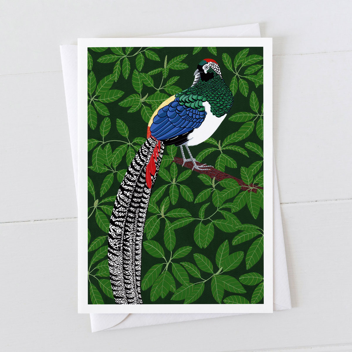 Lady Amherst Pheasant Bird Greeting Card