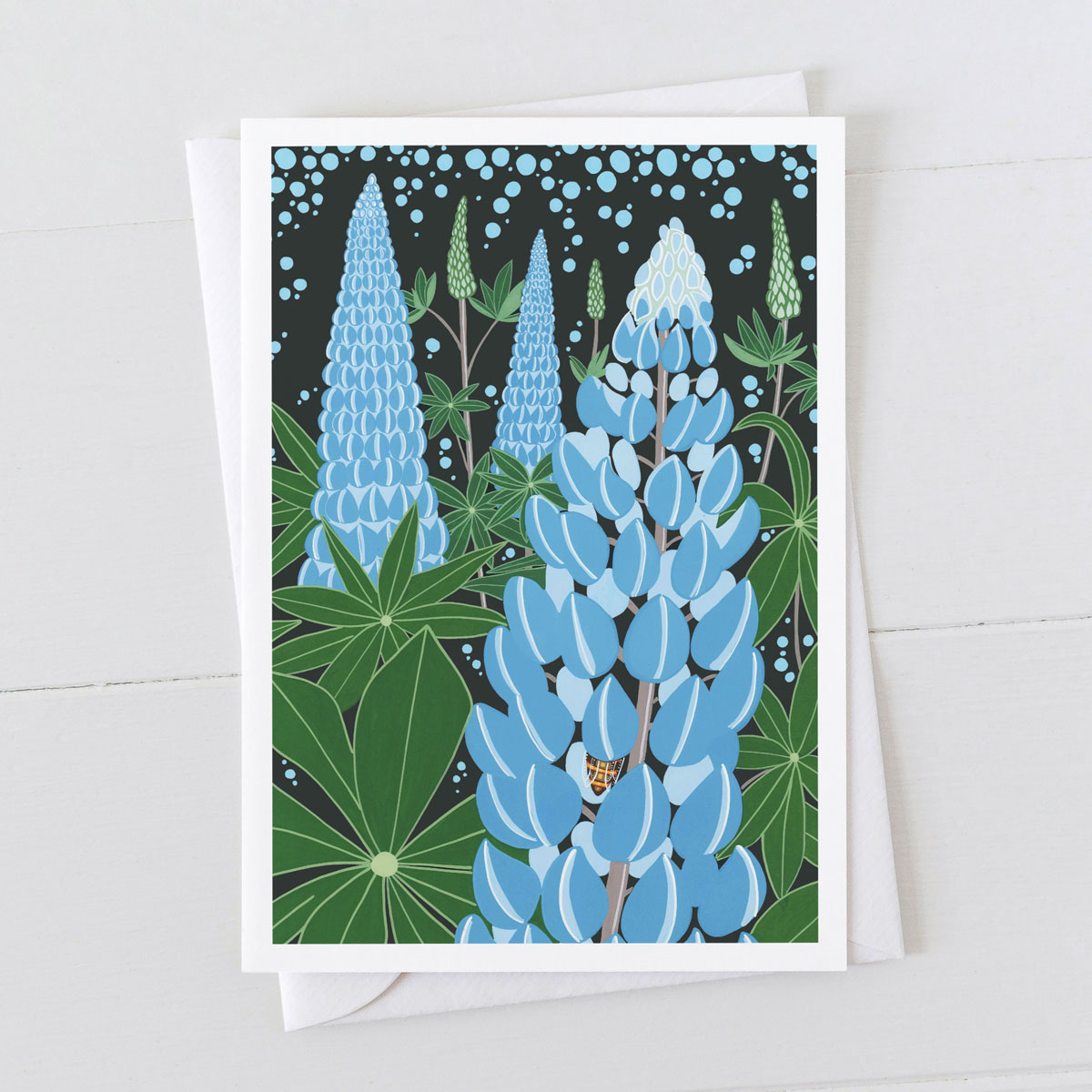 Lupins Flower Greeting Card
