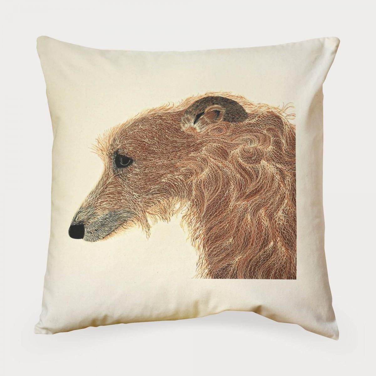 Lurcher Print Dog Cushion Cover