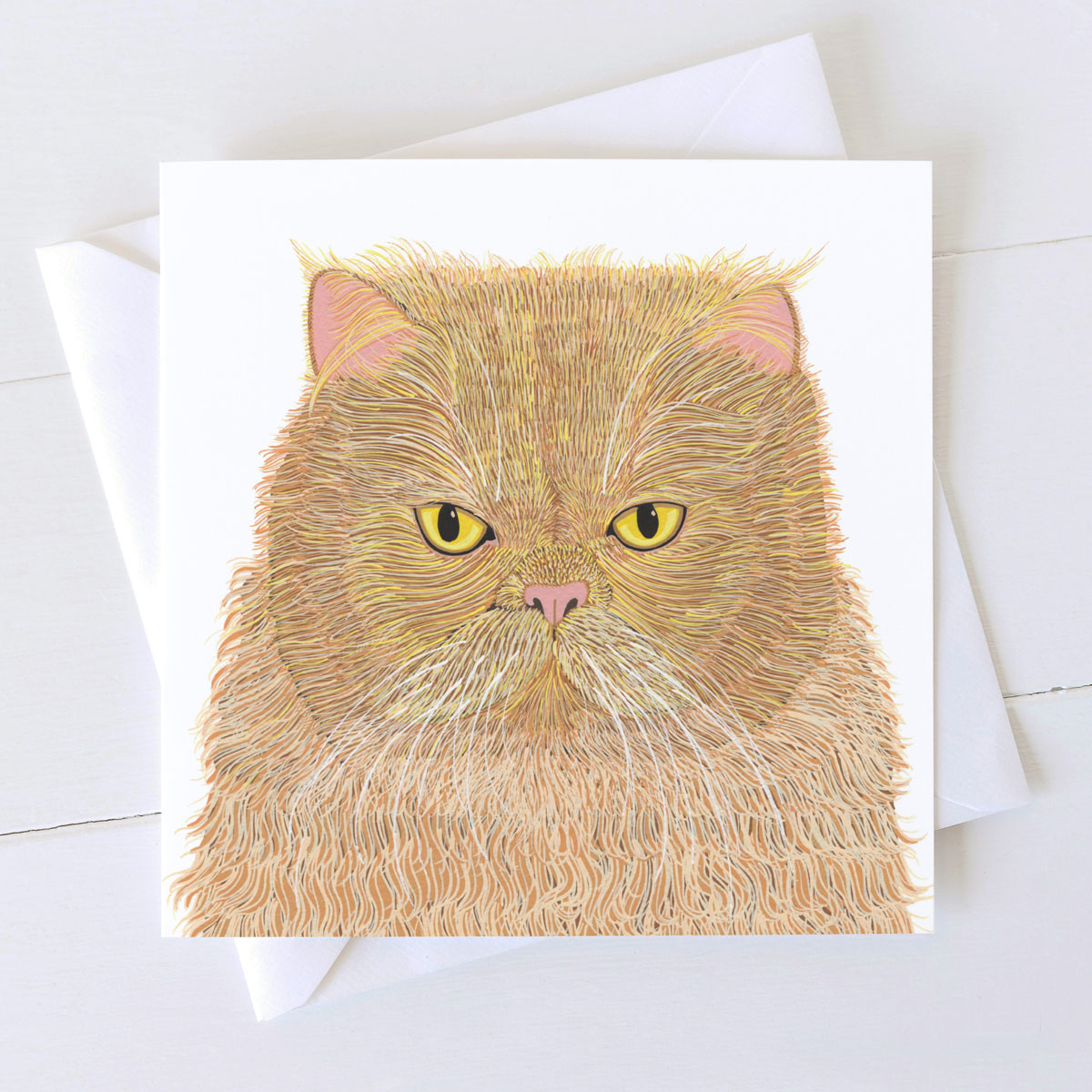 Marmalade Ginger Cat Square Card