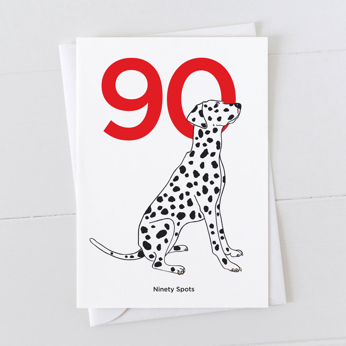 Age Ninety Dalmatian Spot Greeting Card