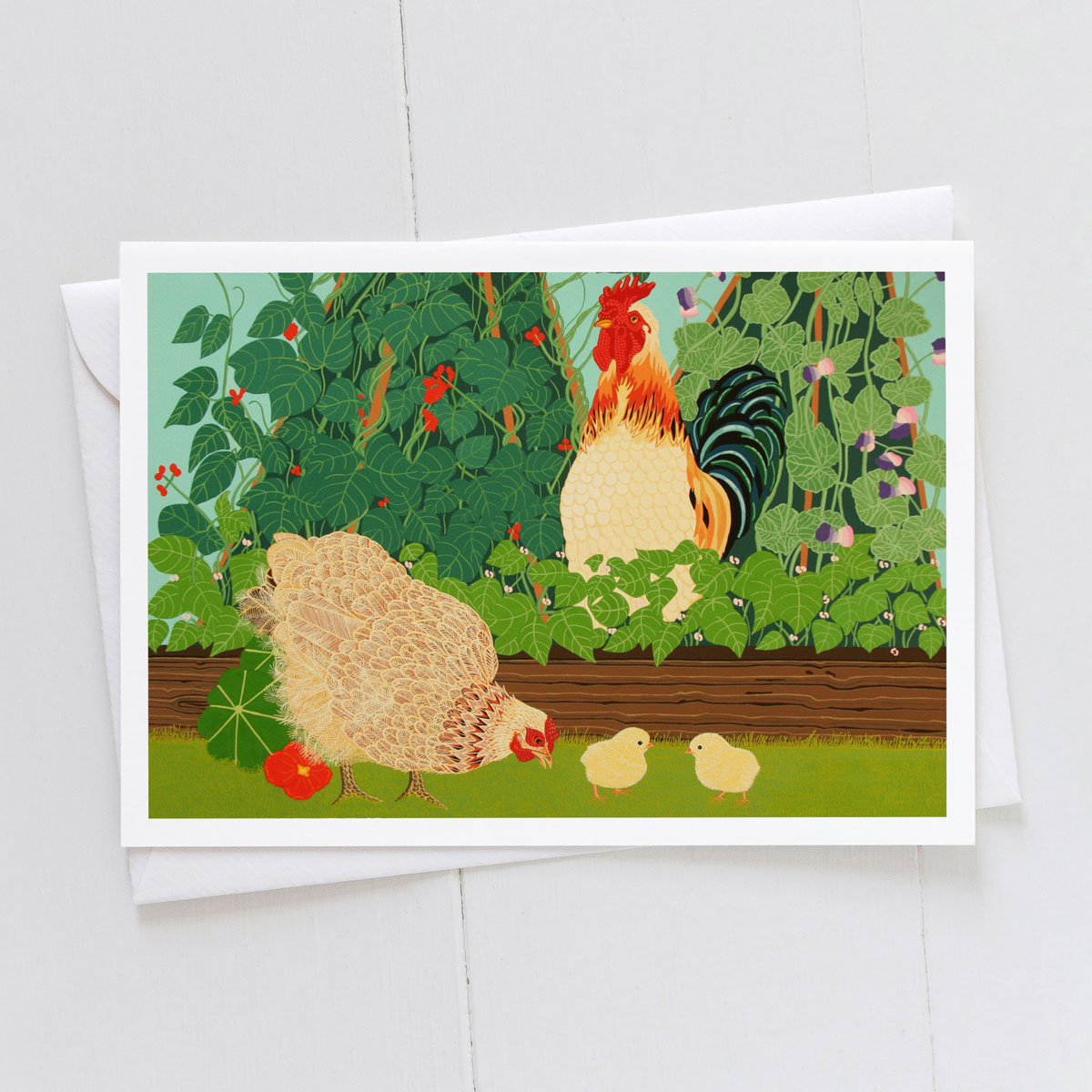 On Guard Chicken Chicks Greeting Card