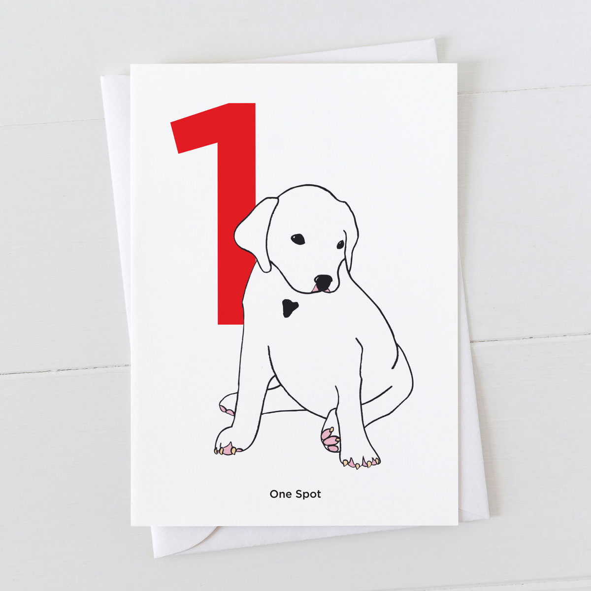 Age One Dalmatian Spot Greeting Card