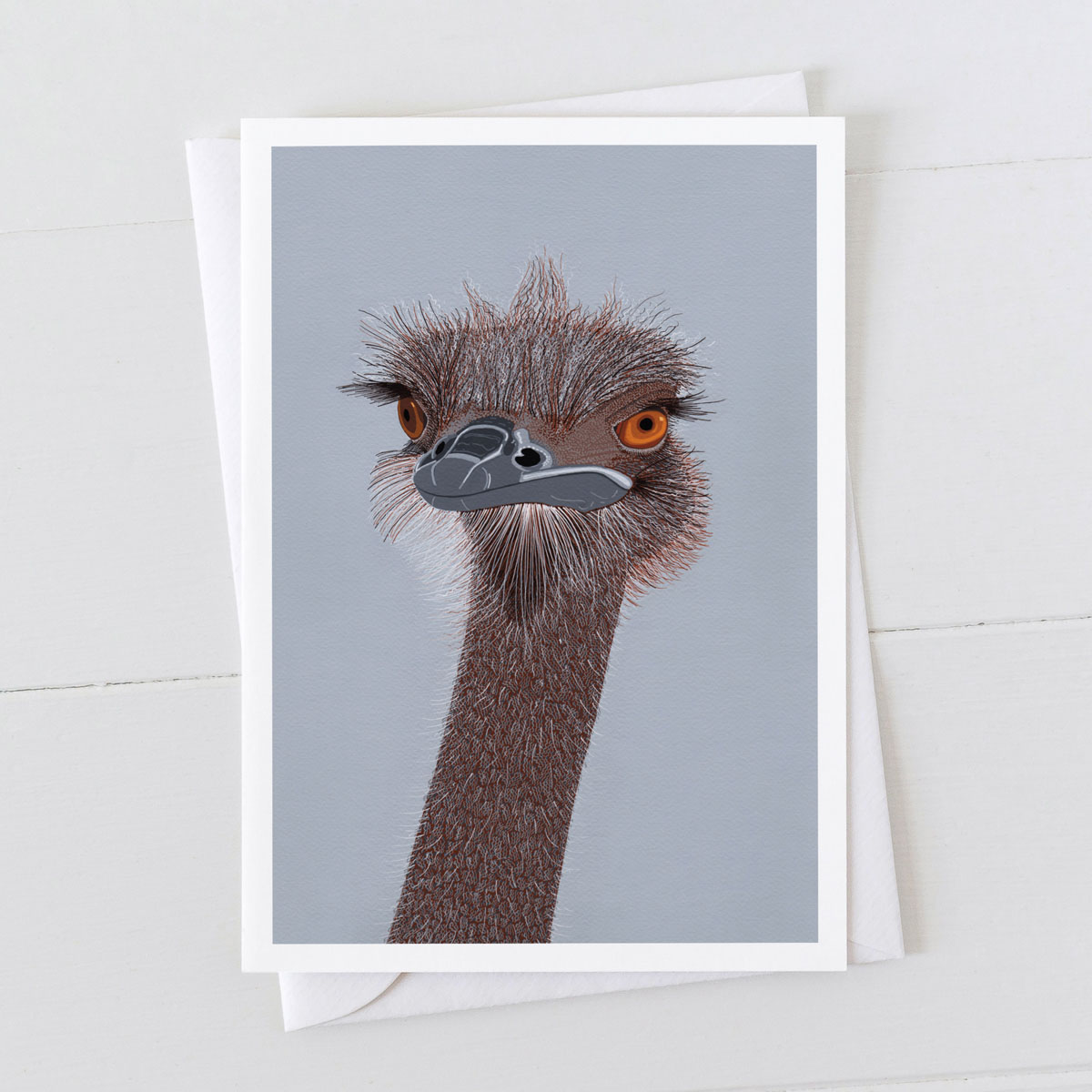 Ostrich Head Greeting Card