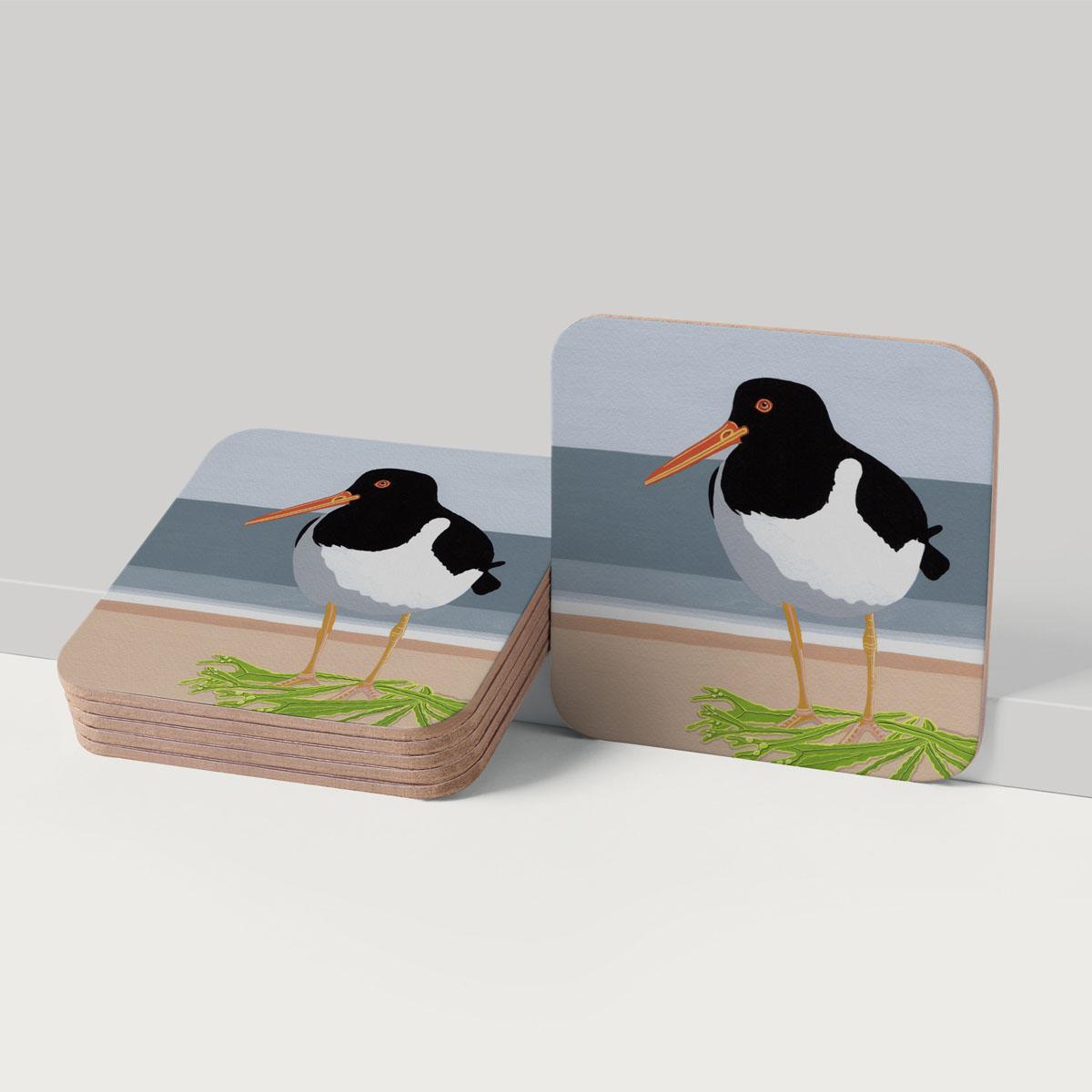 Oyster Catcher Bird Coaster