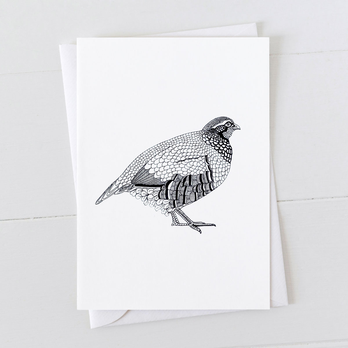 Partridge Pen And Ink Drawing Greeting Card