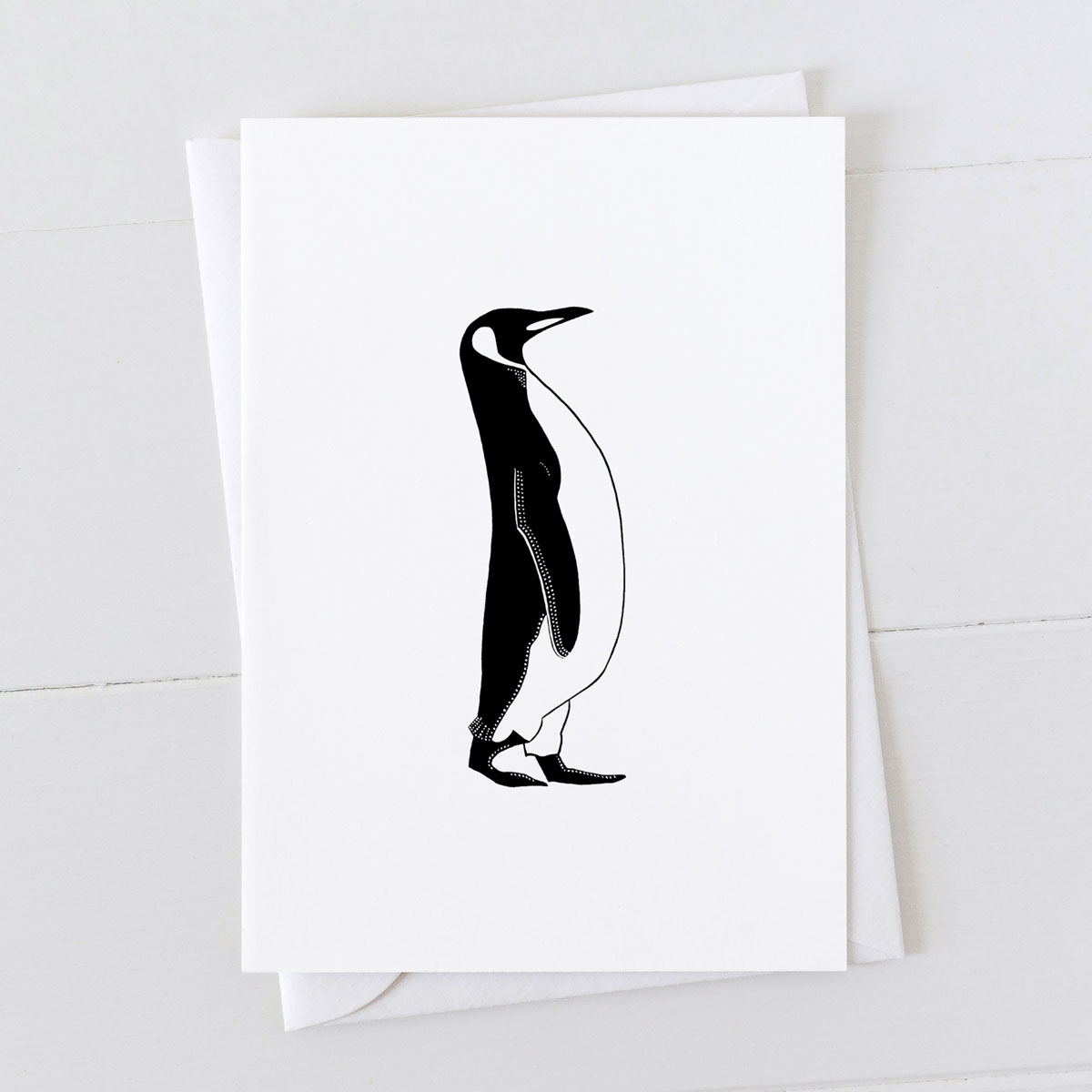 Penguin Pen And Ink Drawing Greeting Card