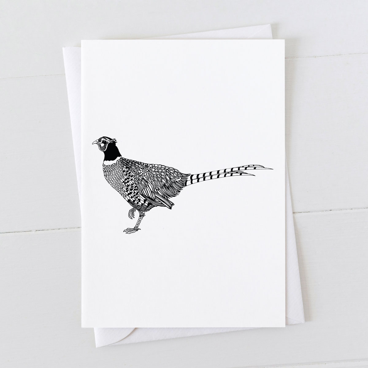 Pheasant Pen And Ink Drawing Greeting Card