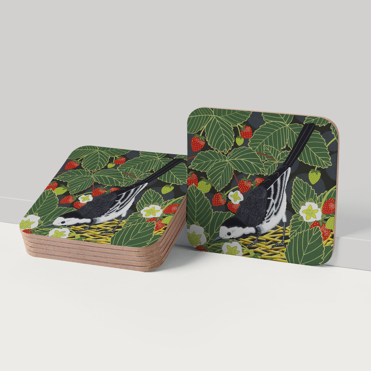 Pied Wagtail Placemat Coaster