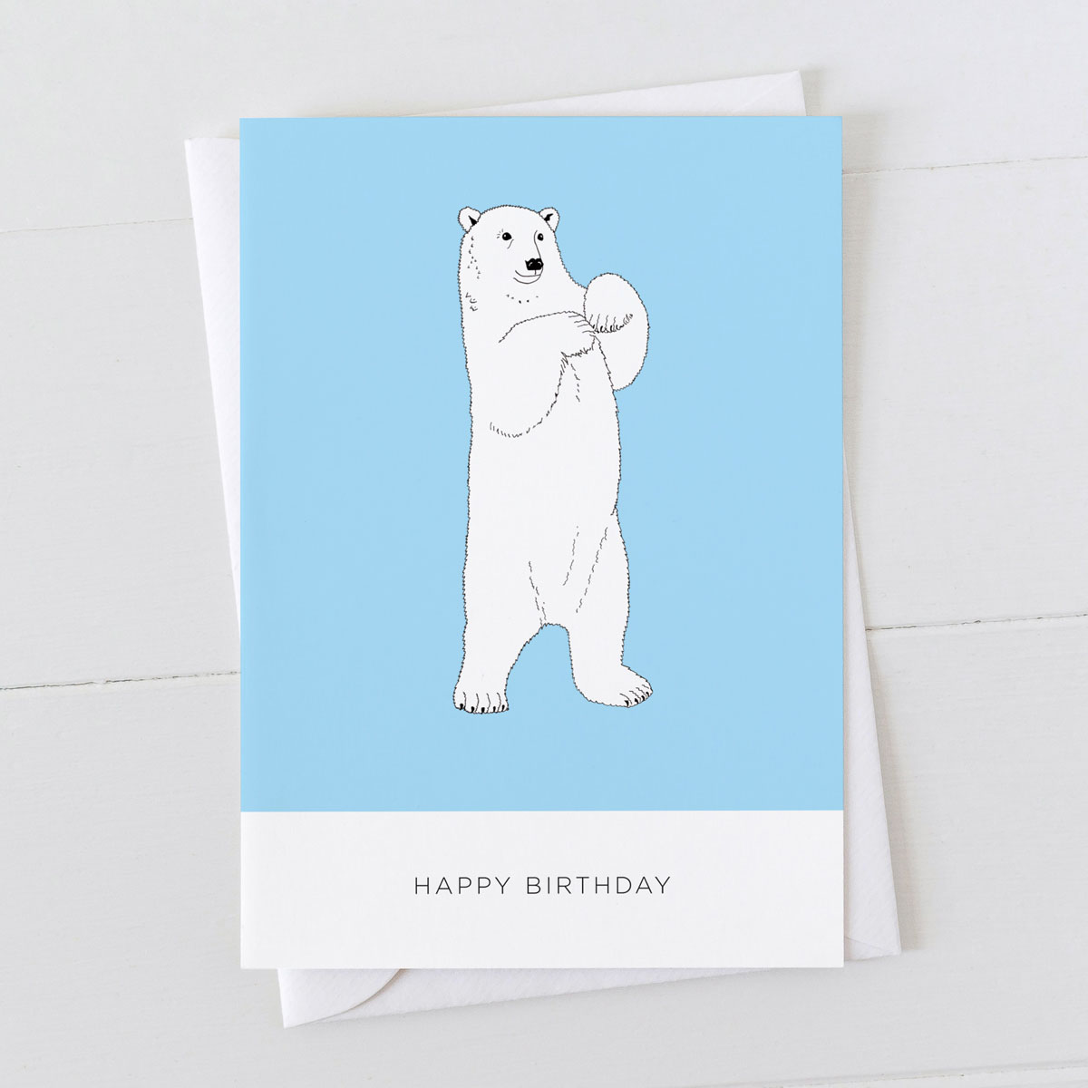 Polar Bear Happy Birthday Card