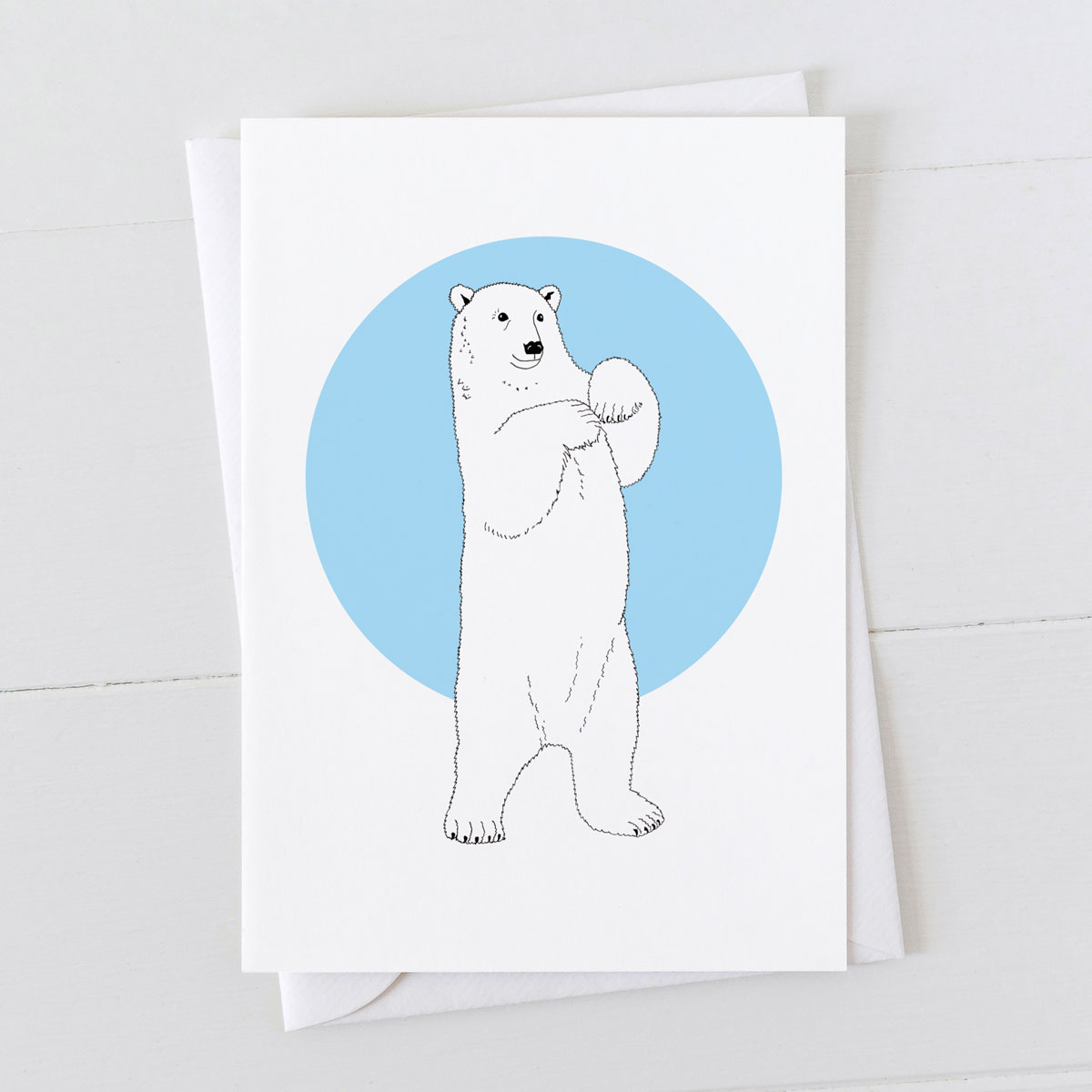 Polar Bear Spot Greeting Card