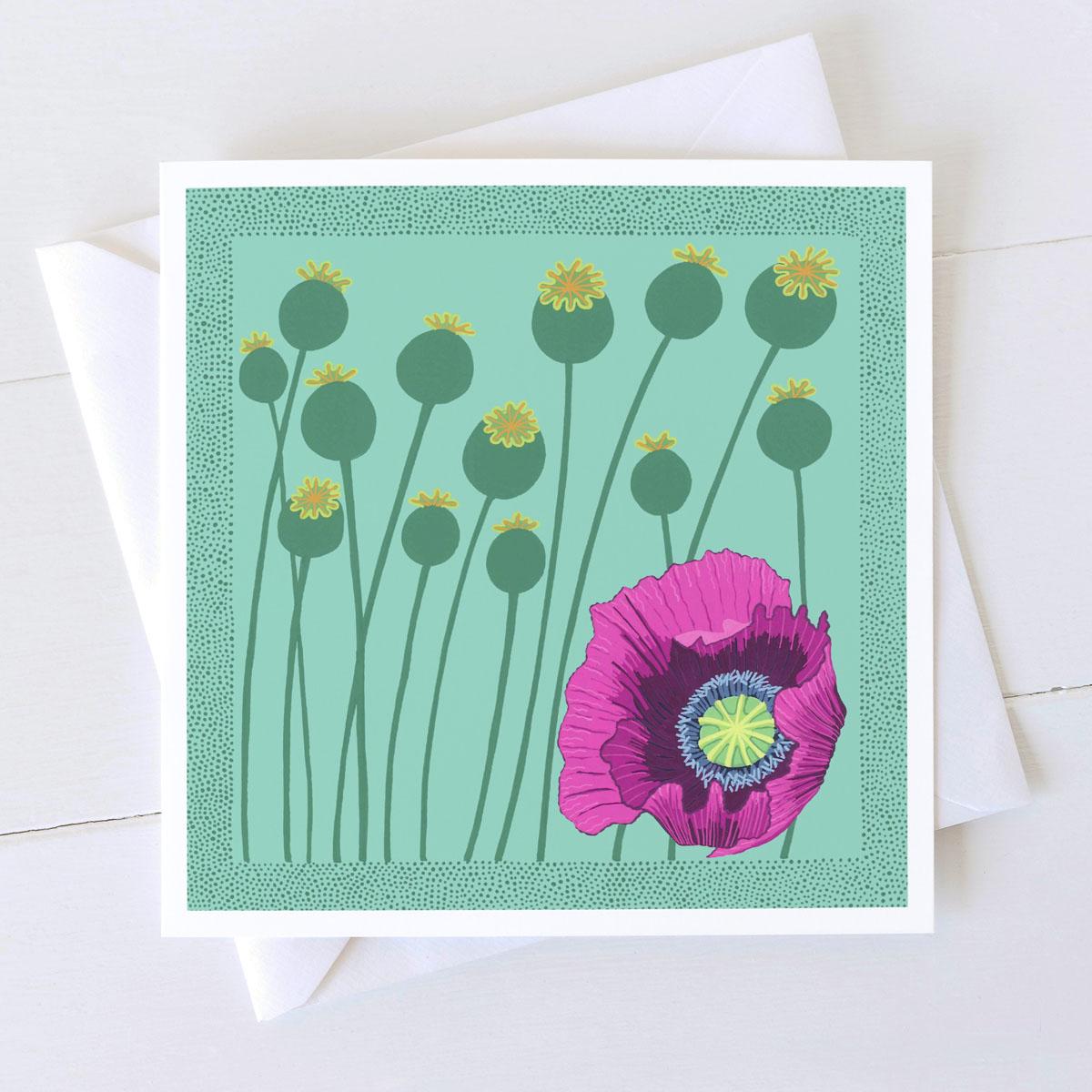 Poppies Wild Flower Greeting Card