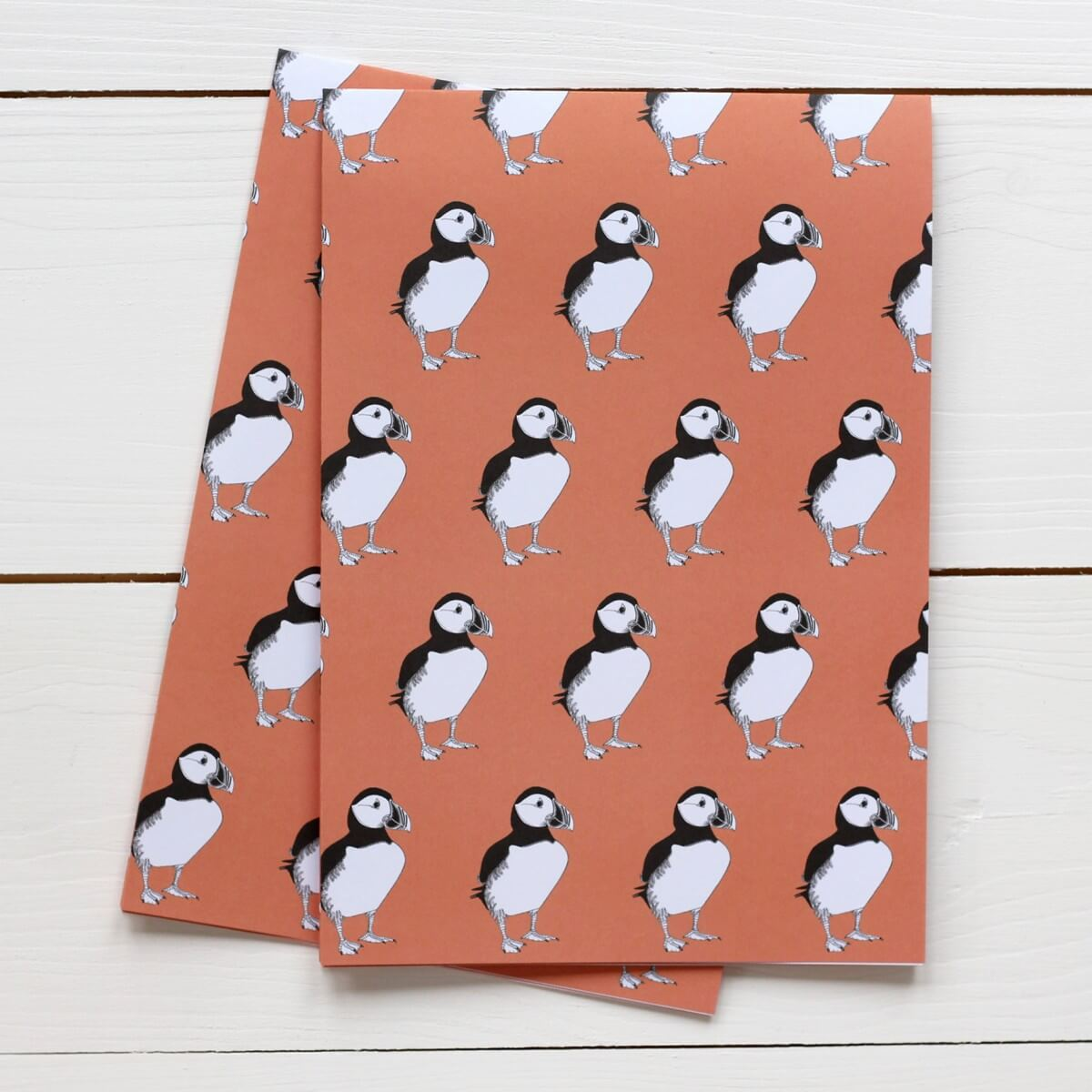 Puffin Print Gift Wrap by Bird the Artist