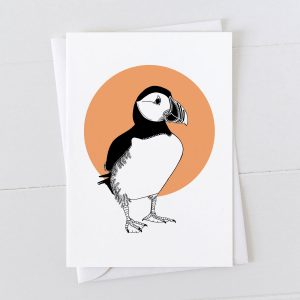 Puffin Spot Greeting Card