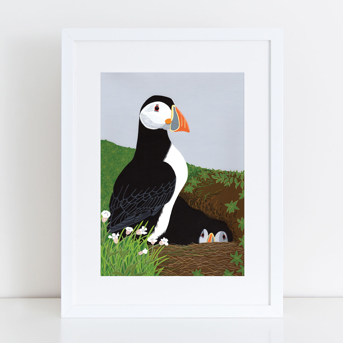 Puffin Burrow Puffin Art Print By Bird