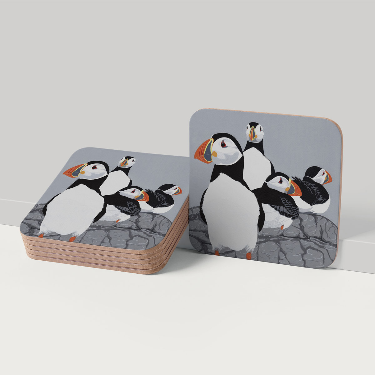 Puffinry Puffins Coaster Placemat Homewares