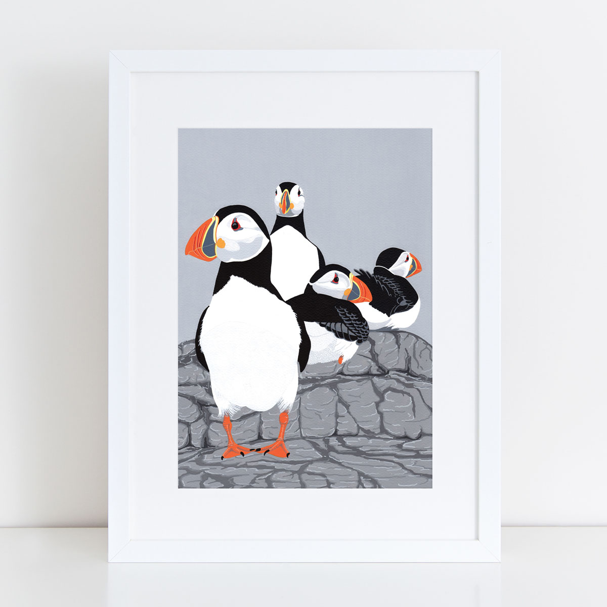 Puffinry Puffin Painted Art Print By Bird