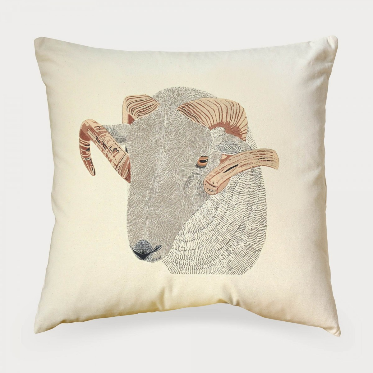 Ram Tup Sheep Print Cushion Cover